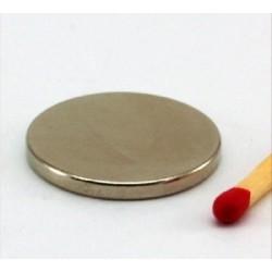 Kruzni neodijumski magnet Fi 20x2 mm 2,2 KG